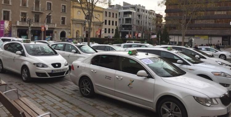 Manifestació de taxistes el desembre de 2017 | Roger Benet