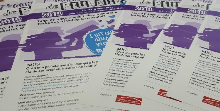 Material de la campanya contra la violència masclista del Consell Comarcal/ Karen Madrid