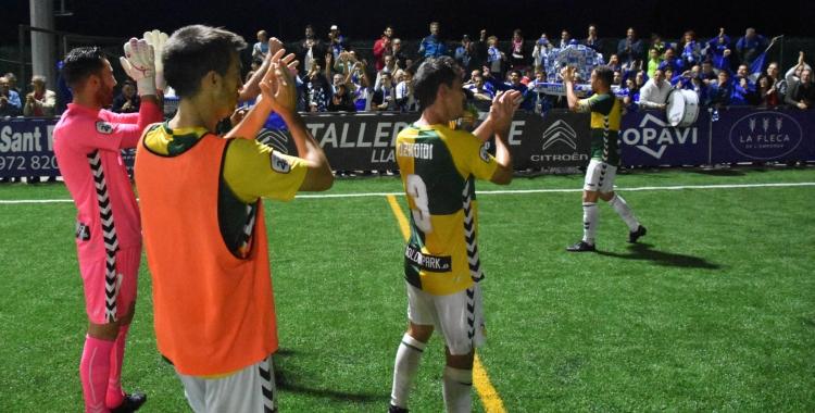 Comunió entre jugadors i aficionats arlequinats a Llagostera | Críspulo Díaz