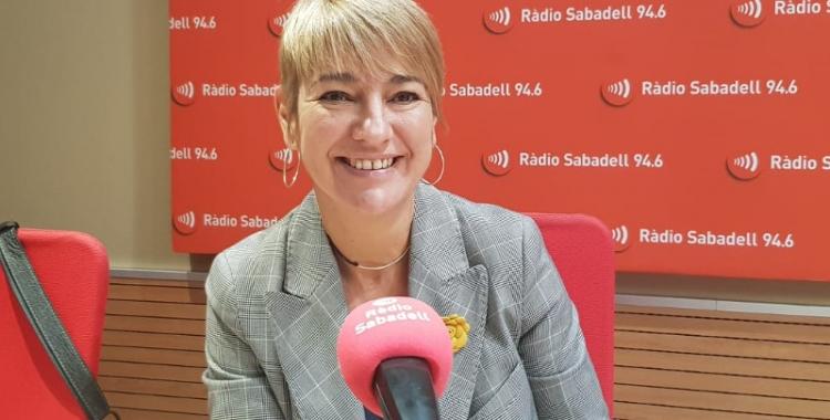 Lourdes Ciuró, portaveu de Junts, als estudis de Ràdio Sabadell