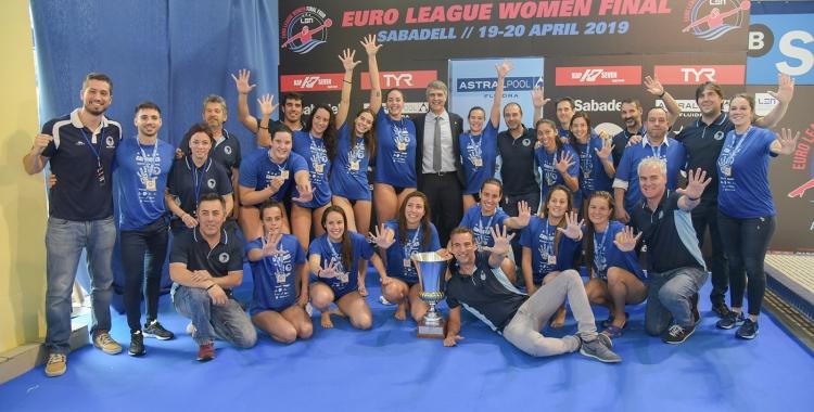 Així celebrava l'Astralpool la consecució de la cinquena Eurolliga a Can Llong | Roger Benet