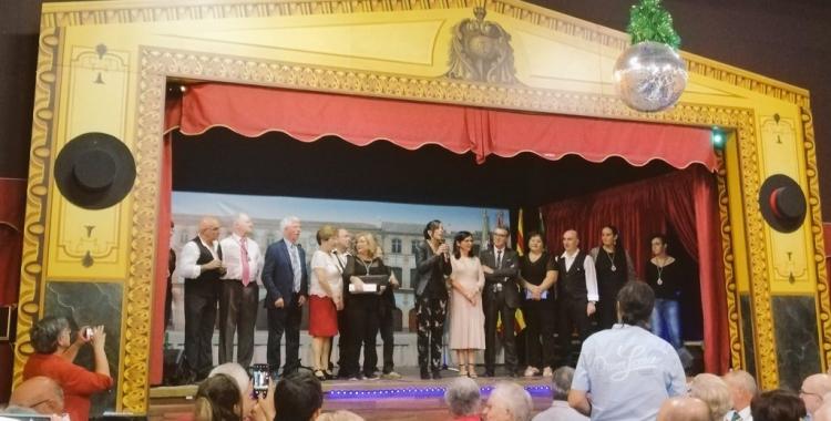 Salutació de l'alcaldessa Marta Farrés amb la seva homòloga d'Archidona, Mercedes Montero | Cedida