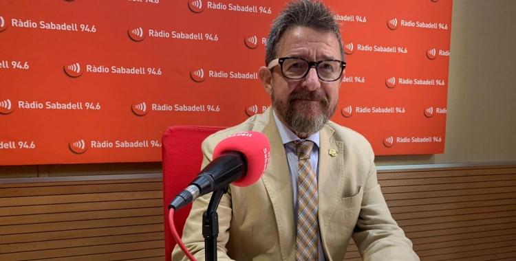 Manolo Hernández, degà de l'ICAS, als estudis de Ràdio Sabadell | Ràdio Sabadell