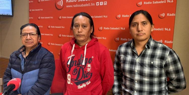 D'esquerra a dreta, César Fichamba, Rodrigo Perugachi i Álvaro Barahona | Ràdio Sabadell
