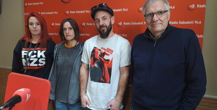 D'esquerra a dreta, Clara Borrero, Anna Bala, David Burdia i David Ros   Ràdio Sabadell