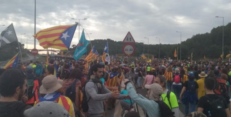 La Marxa de la Llibertat arribant a Barcelona | Eva Rosell