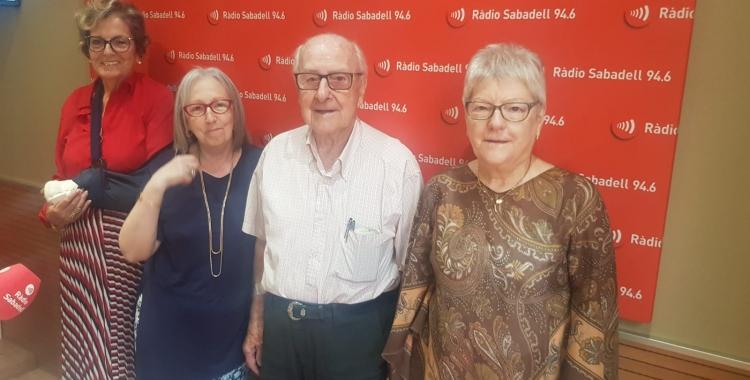 D'esquerra a dreta, Maria Rosa Mota, Elena Catalan, Adrià Miquel i Maria Teresa Cererols | Ràdio Sabadell