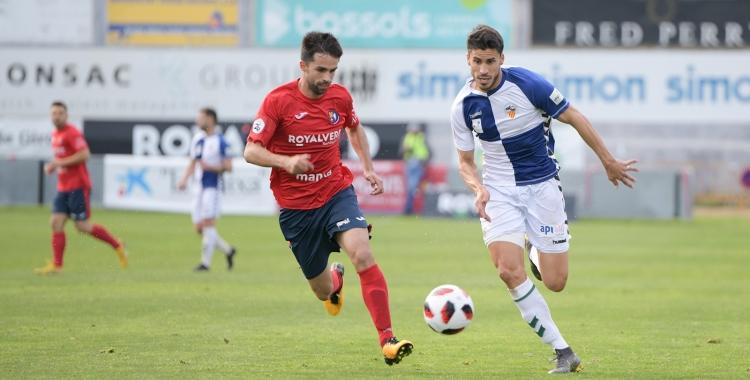 Néstor Querol, en el partit de la temporada passada a Olot | Roger Benet