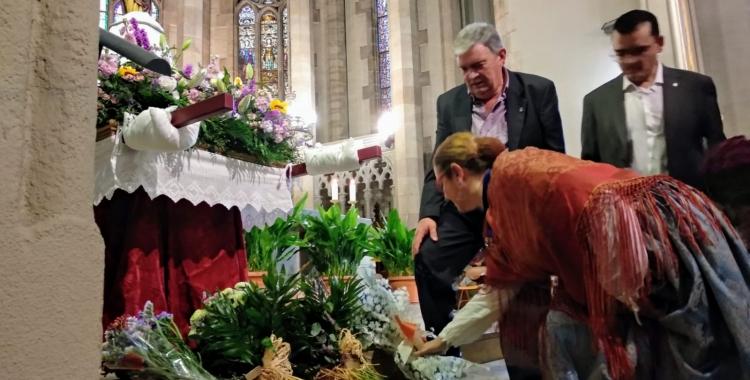 Ofrena floral a l'església de Sant Fèlix | Helena Molist