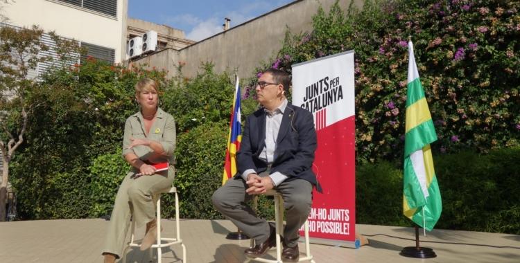 Lourdes Ciuró i Jaume Alonso-Cuevillas en l'acte d'aquest matí | Helena Molist