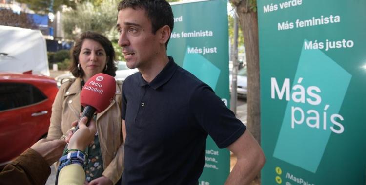 Berta Ballester i Juan Antonio Geraldes atenent la premsa | Roger Benet