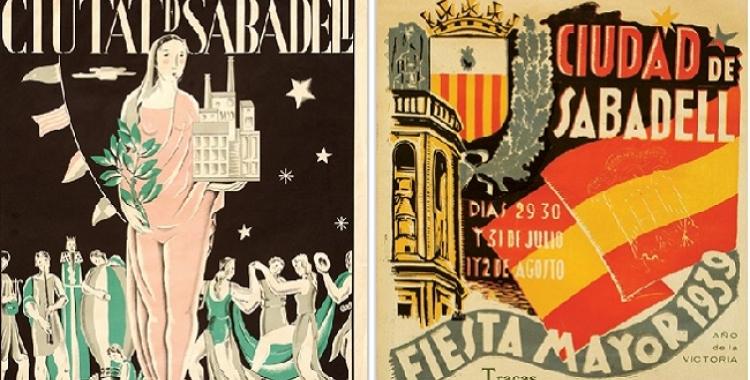 El cartell de l'any 1936 i el de l'any 1939 | Cedida