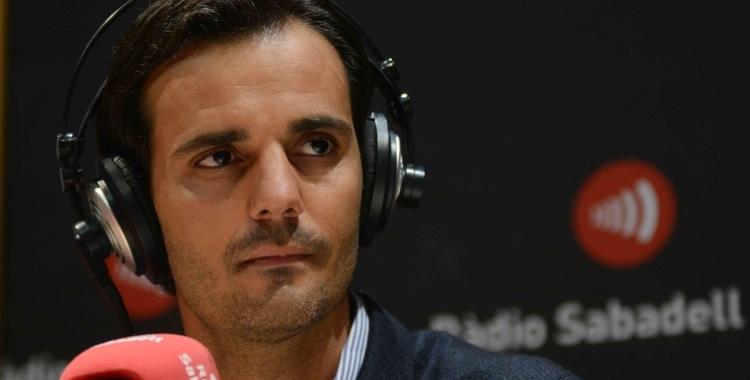 Bruno Batlle en una imatge d'arxiu a Ràdio Sabadell | Roger Benet