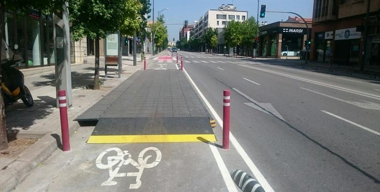 Carril bici de la Ronda Ponent/ Ajuntament de Sabadell