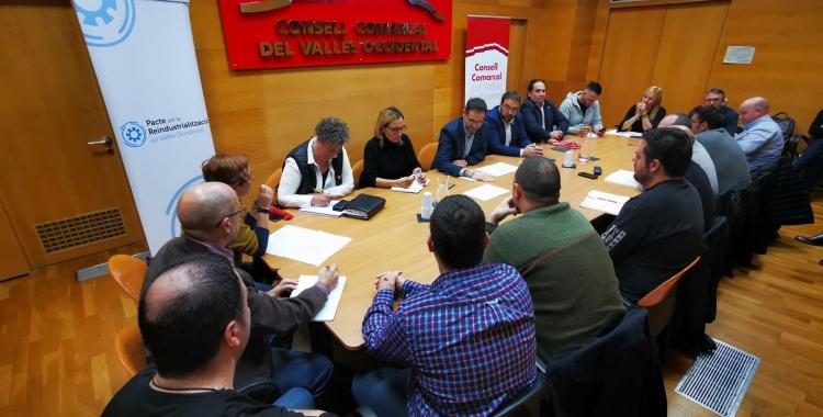 Reunió al Consell Comarcal amb administracions i sindicats | Cedida