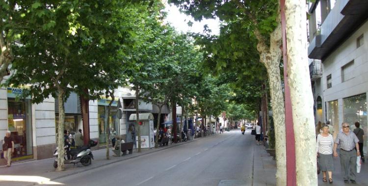 Imatge de la Rambla de Sabadell