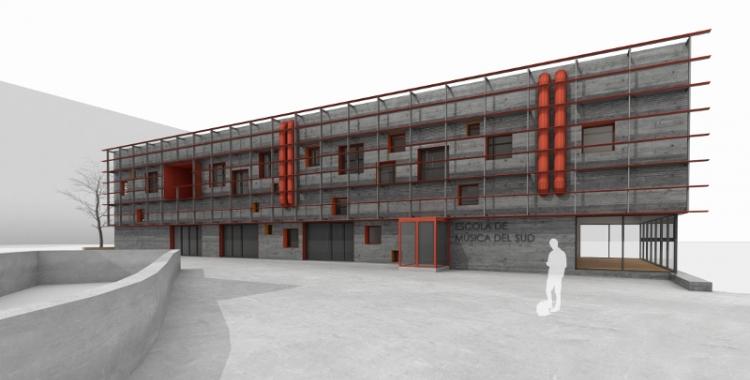 Imatge de l'exterior del nou edifici/ Ajuntament de Sabadell