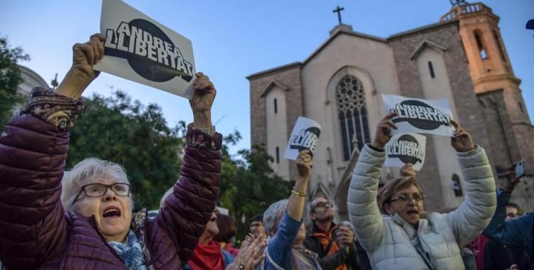 Moment en una manifestació per reclamar l'alliberament de l'Andrea | Roger Benet