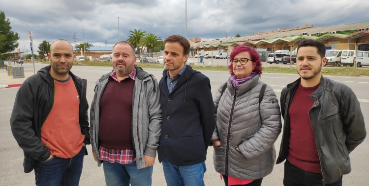 Els membres d'En Comú Podem a la Carretera N150   Pau Duran