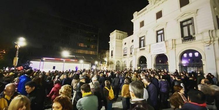 La plaça Doctor Robert en el moment de l'acte | Tsunami Democràtic