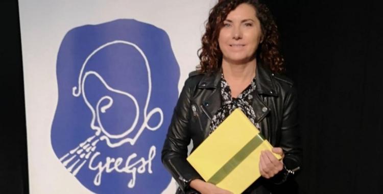 Cesca Rodríguez en la gal·la dels Premis Gregal   Cedida