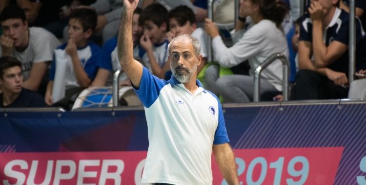 Palma, donant instruccions durant el partit d'ahir | Roger Benet