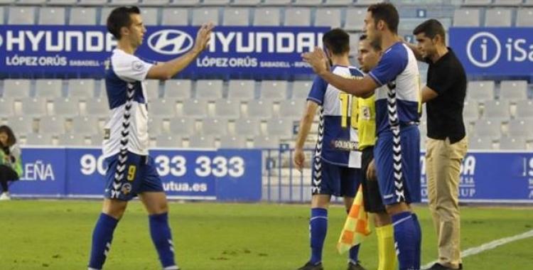 L'últim partit de Boris Garrós en lliga va ser contra l'Olot (jornada 7)   Críspulo Díaz