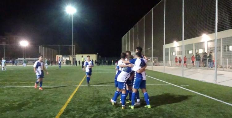 L'últim gol de Laborde va ser celebrat amb efusivitat | Sergi Park