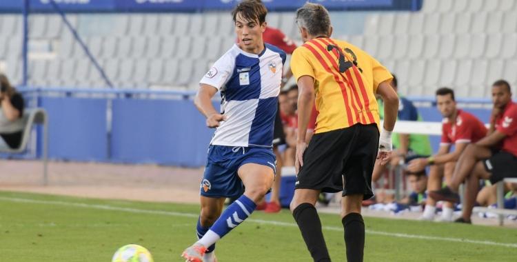 Roig, en el partit de pretemporada contra el Sant Andreu | Roger Benet
