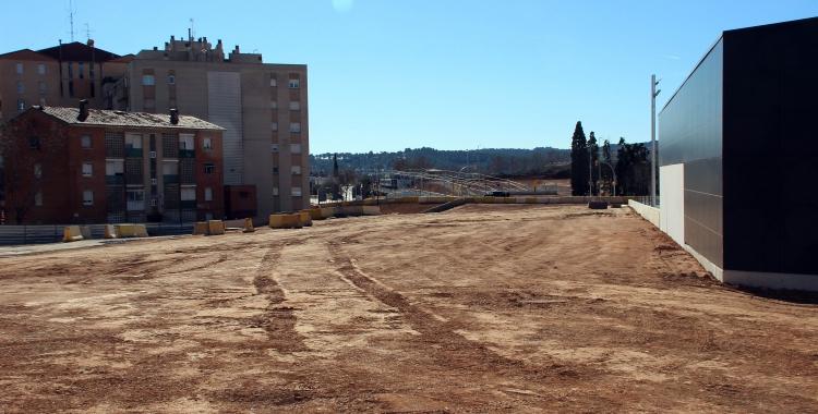 La urbanitació del passeig sorgit del soterrament està aturada   Cedida