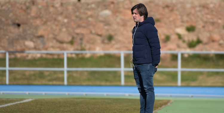 Jose Manzanera durant un entrenament del Sabadell a Sant Oleguer   Roger Benet