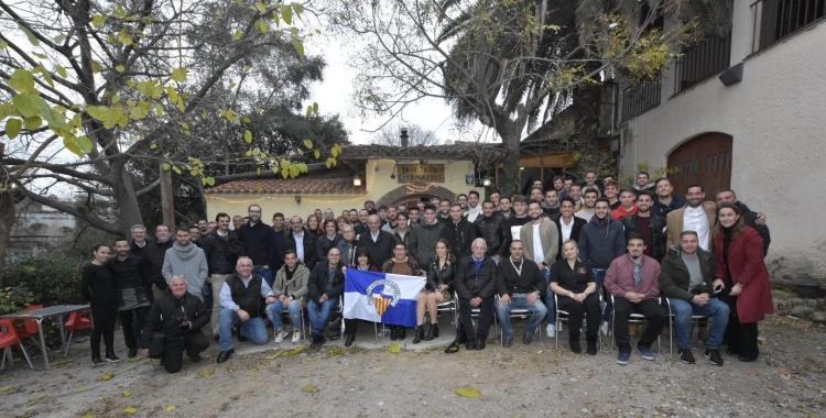 Fotografia de família del dinar de Nadal del Centre d'Esports   Críspulo Díaz