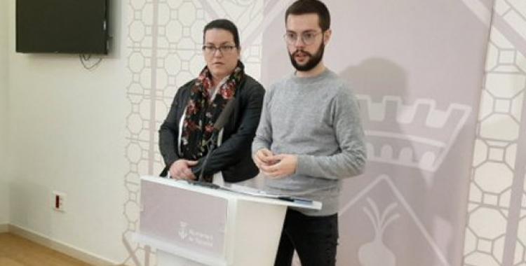 Mar Molina i Eloi Cortés, en roda de premsa/ Ajuntament de Sabadell