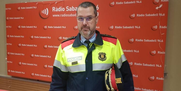 L'intendent en cap, Enric Cervelló, als estudis de Ràdio Sabadell   Núria García