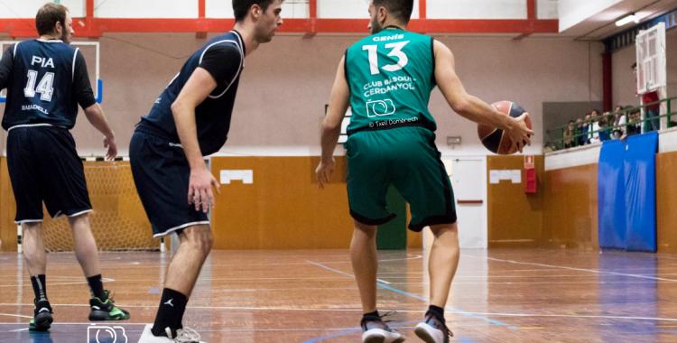 L'escolapi Damià Paéz va ser el màxim anotador (28) del partit contra el Cerdanyola | Txell Domènech