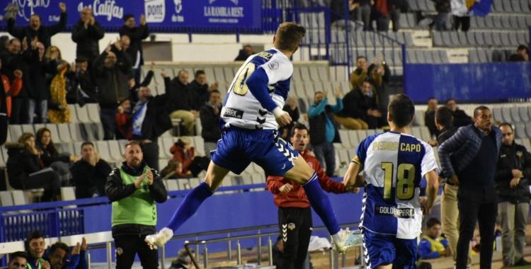 Així ha celebrat Édgar el seu golàs de falta |Críspulo Díaz
