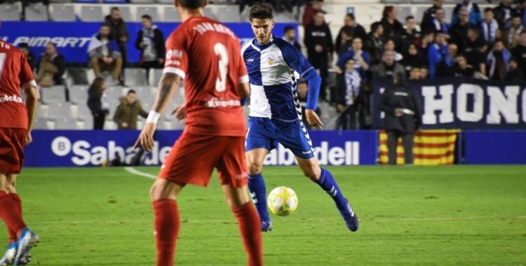 Cuevas, en el darrer partit contra el Lleida Esportiu   Críspulo Díaz