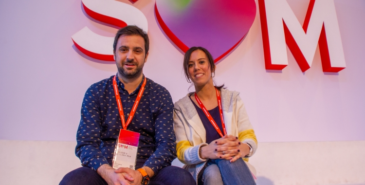 Pol Gibert i Marta Farrés al Congrés del PSC   Cedida