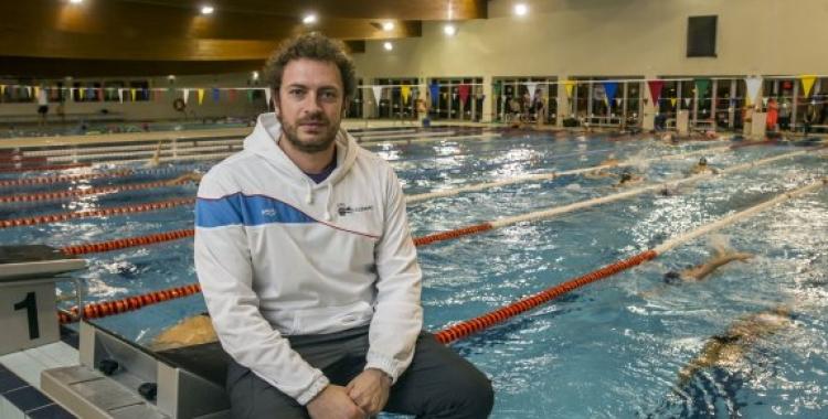 El director tècnic de la secció de natació del Club, Álex López | Arxiu