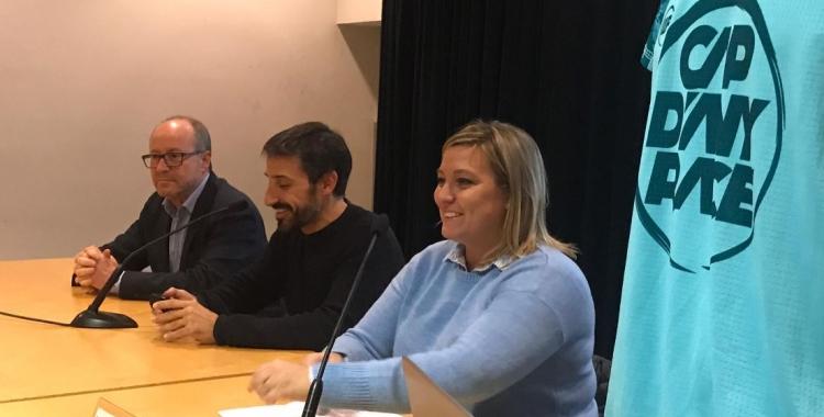 A l'acte hi han assistit Benet Heredia, director regional del Banc Sabadell, Aleix Muñío, director de la cursa, i Laura Reyes, regidora d'esports   Adrián Arroyo