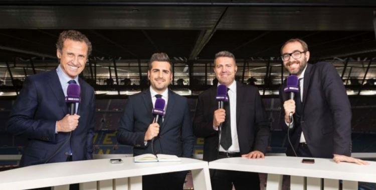 Jorge Valdano, José Sanchís, Òscar Garcia i Àxel Torres, en una retransmissió per Bein Sports | @gol