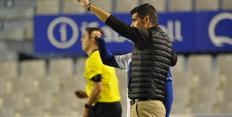 Antonio Hidalgo, en el partit de la penúltima jornada del 2019 davant el Prat | Críspulo Díaz