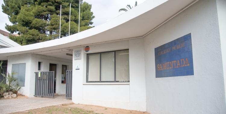 Imatge de l'entrada a l'Escola Samuntada-Magnet | Roger Benet