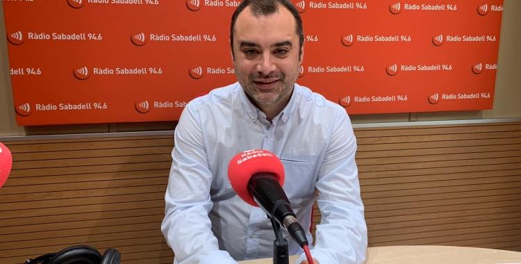 Jordi Ballart a l'estudi de Ràdio Sabadell | Mireia Sans