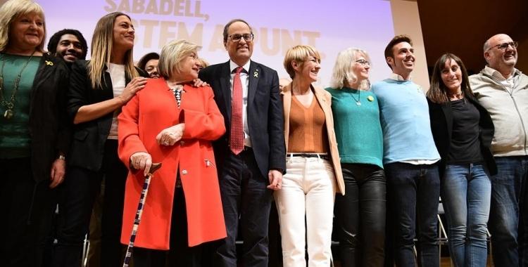 Quim Torra i Lourdes Ciuró en un acte a Sabadell l'abril del 2019 | Roger Benet