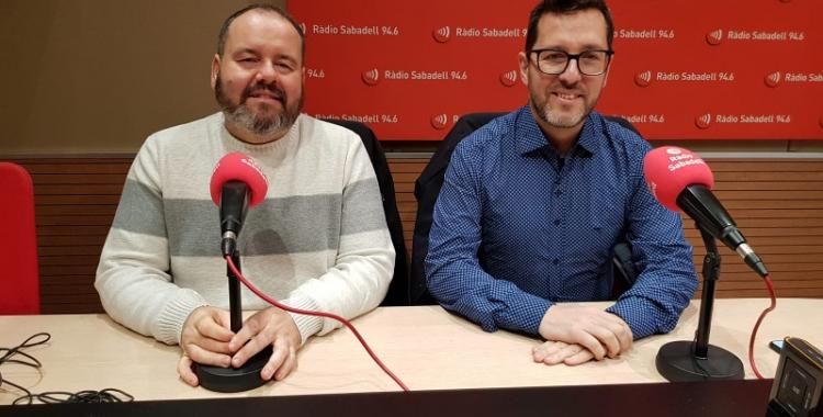 Joan Mena i Paco Aranda, a Ràdio Sabadell/ Núria Garcia