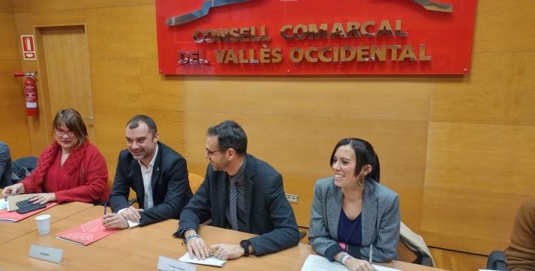 Al centre, Jordi Ballart, Ignasi Giménez i Marta Farrés | Ràdio Sabadell
