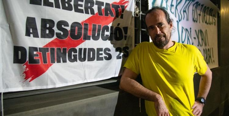 Jordi Ros ahir a Sabadell, on va arribar de matinada | Roger Benet