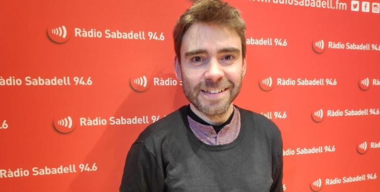 David Vila i Ros a l'estudi de Ràdio Sabadell | Pau Duran