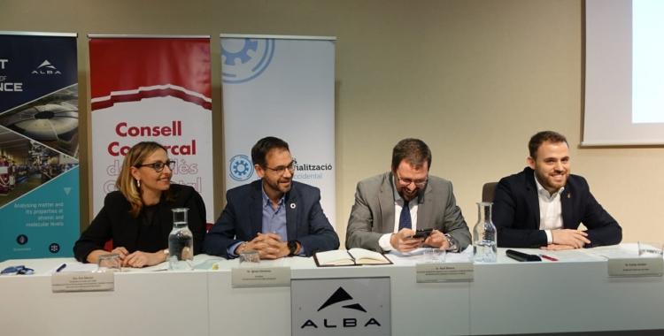 D'esquerra a dreta, Eva Menor, Ignasi Giménez, Raúl Blanco i Carlos Cordón | Pere Gallifa